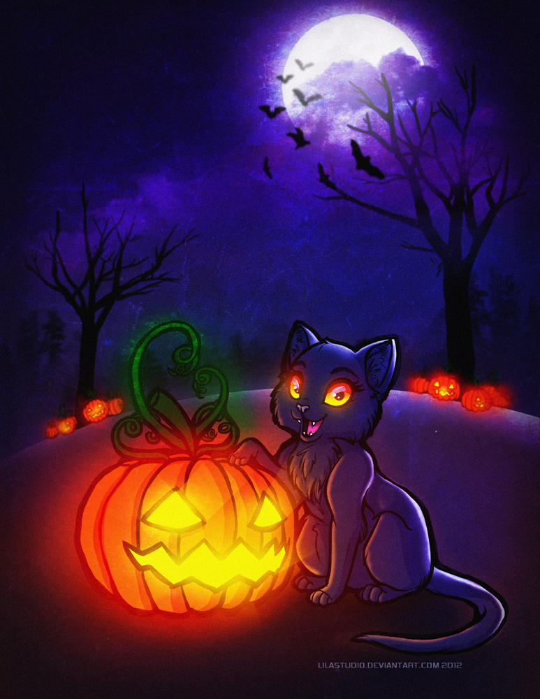 Halloween Cat by LilaCattis