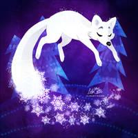 Snow Fox Dream by LilaCattis