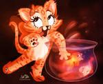 Kitty likes Goldfish