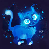 Sapphire Kitty by LilaCattis