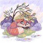 Foxtober- Rainy Day