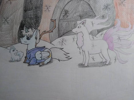 Jack Frost's first time hanging with Vulpix
