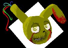 pixel Springtrap by katja-is-bored
