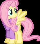 fluttershy in a cute sweater -VECTOR-