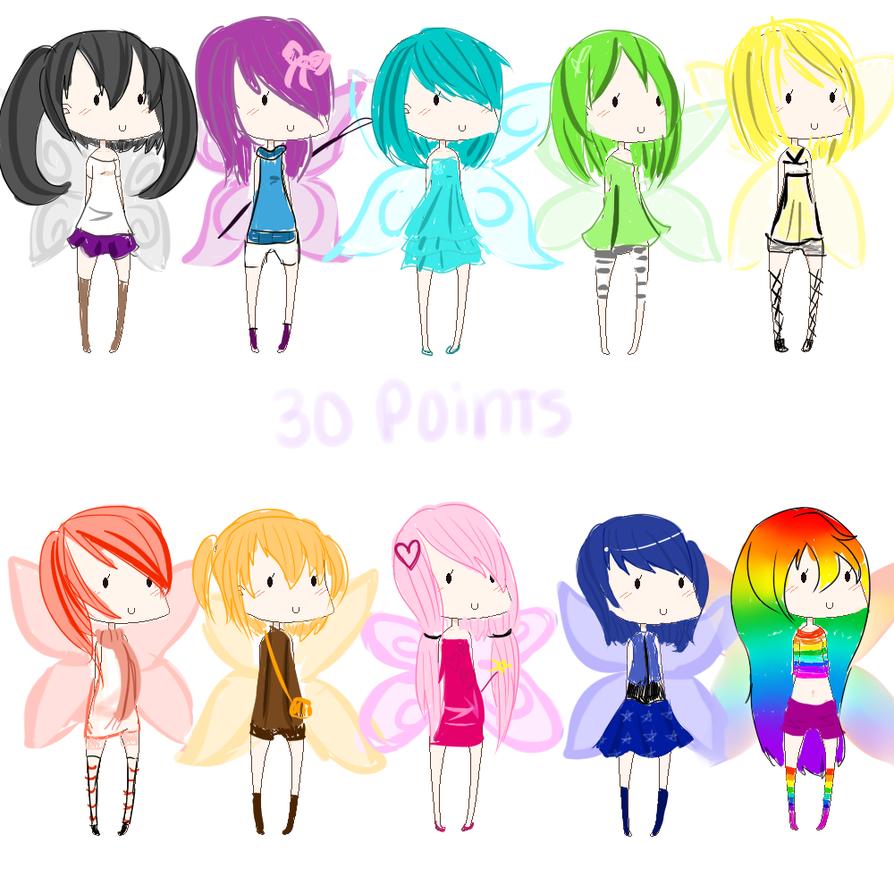 chibi anime girls fairy - photo #46