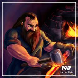 Dwarf Blacksmith by marcusagm