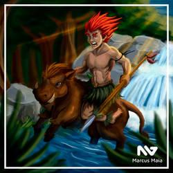 Curupira - Brazilian Mythology by marcusagm