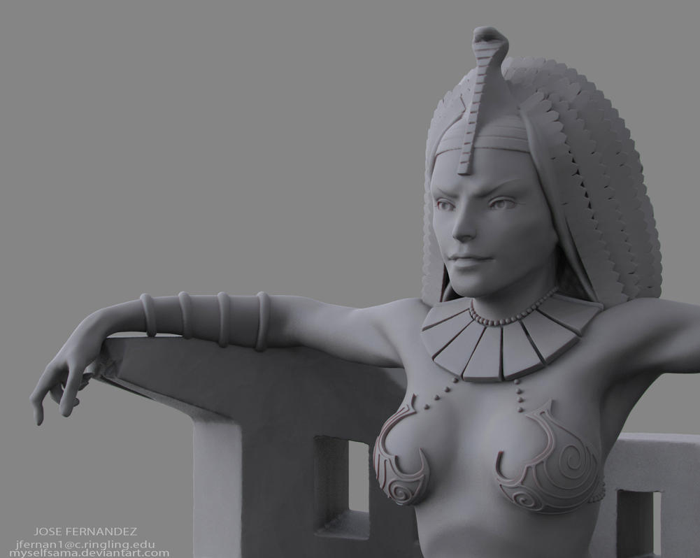Queen of the Nile closeup1 by Myselfsama
