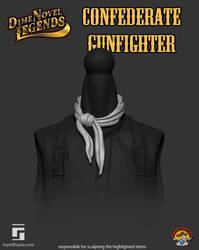 Dime Novel Legends Confederate Gunfighter Bandana