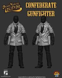 Dime Novel Legends Confederate Gunfighter Coat