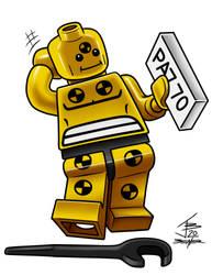 Lego Minifig Crash Test Stagger