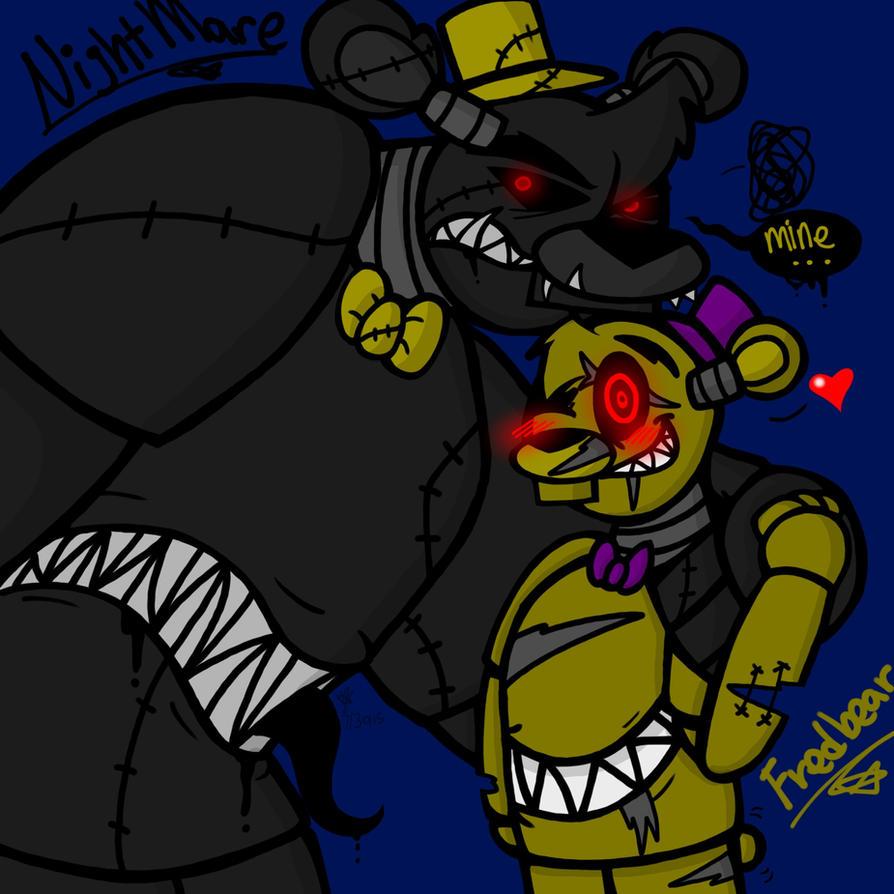 Nightmare and fredbear fnaf 4