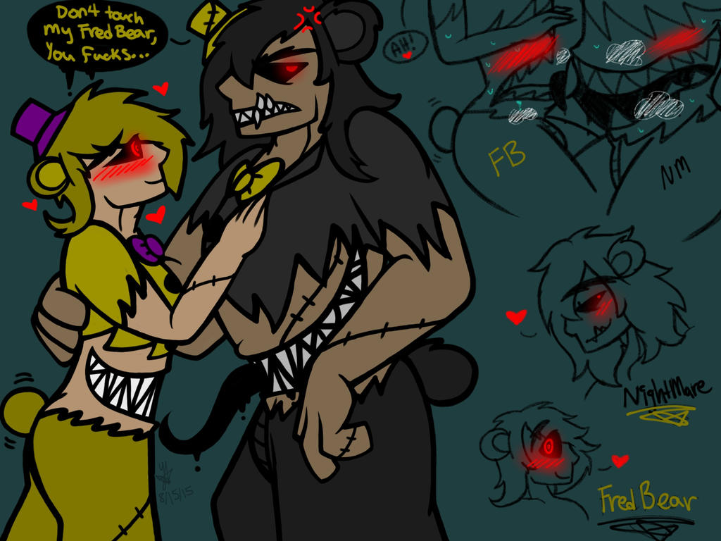 Nightmare and fredbear fnaf 4 human by yaoilover113 on deviantart