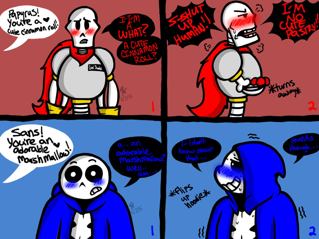 Blushing boneheads undertale by yaoilover113 on deviantart