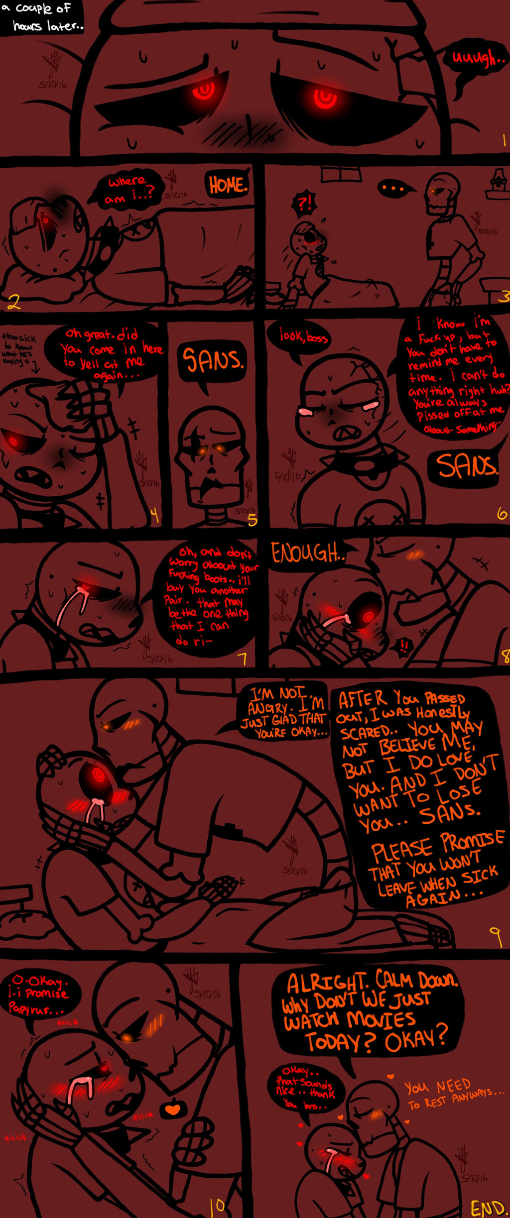 Sickly Sans (Underfell version Pt2: End) by YaoiLover113