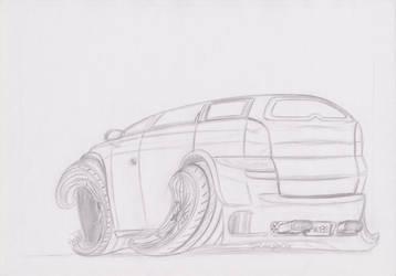 Opel Vectra Caravan B Toon