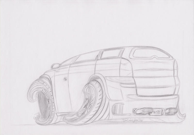 Opel Vectra Caravan B Toon by theTobs