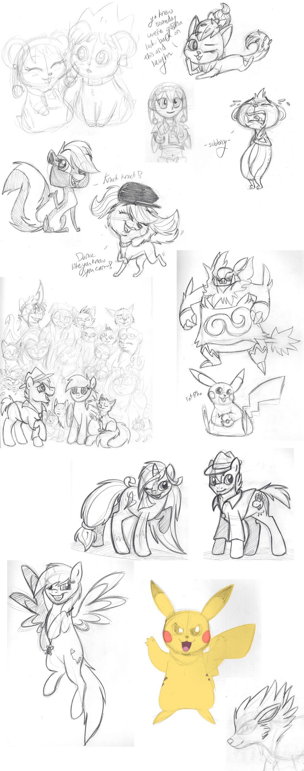 Summer Sketch Dump by TickleMeFrosty