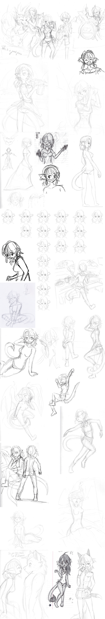 2014 Character Design Nekku Sketches by TickleMeFrosty