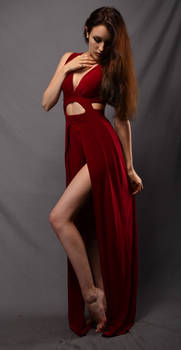 Red Dress Stock 04