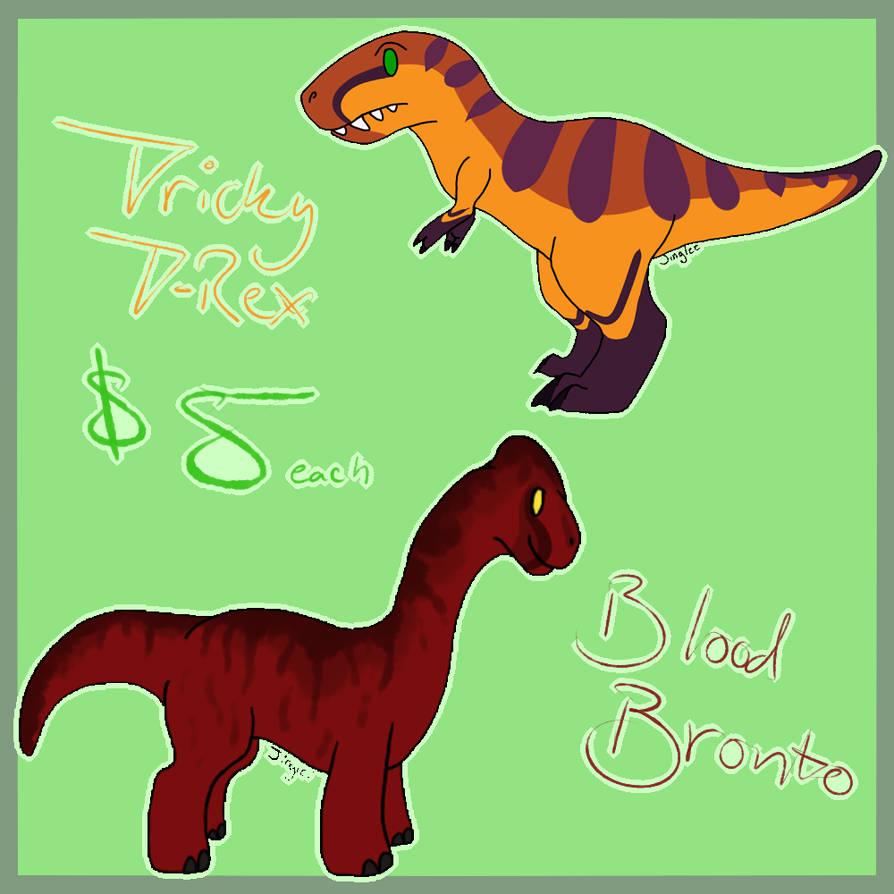 Halloween Dinosaur Adopts [2/2 OPEN] by Jinglez-Arts