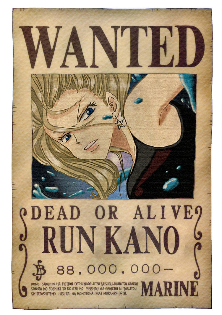 one piece wanted poster by runkano on deviantart. Black Bedroom Furniture Sets. Home Design Ideas