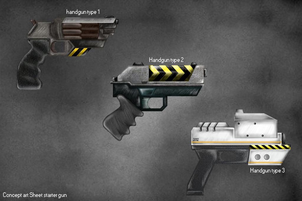 Guns Concept Art by Sealke