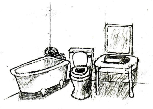 Bathroom Sketch By Marioucomics On Deviantart