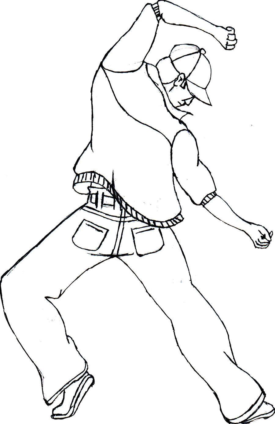 hip hop dancer coloring pages virtren com