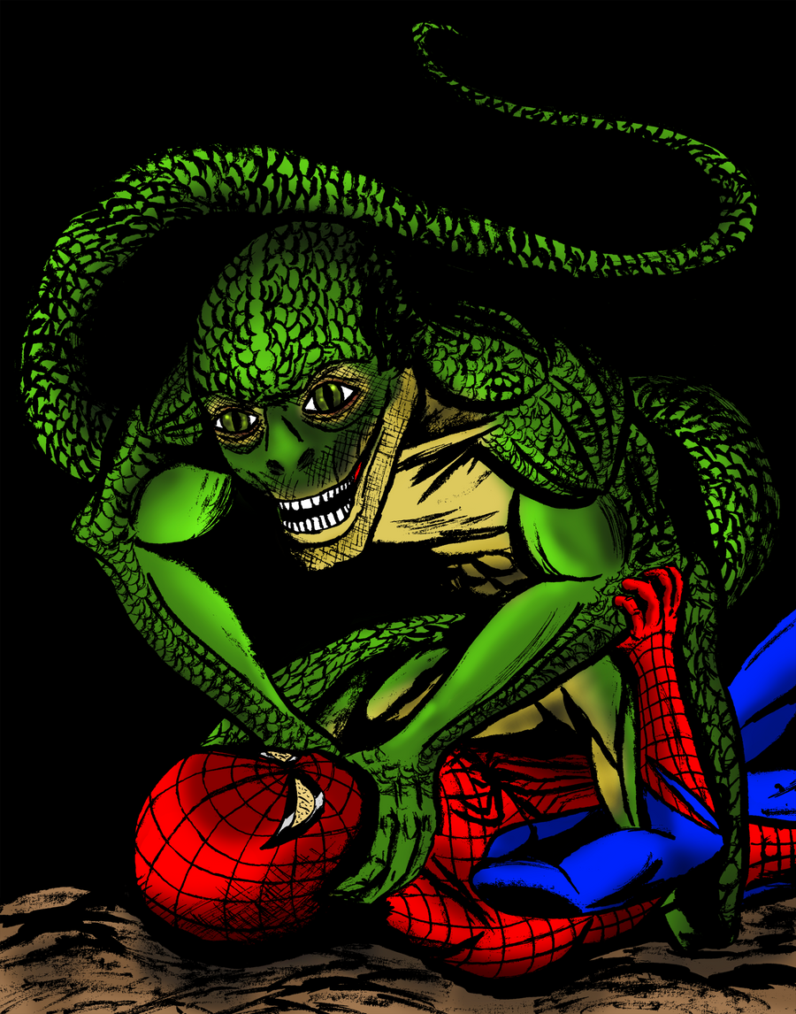 Amazing Spider-man Vs Lizard Movie version color by ...