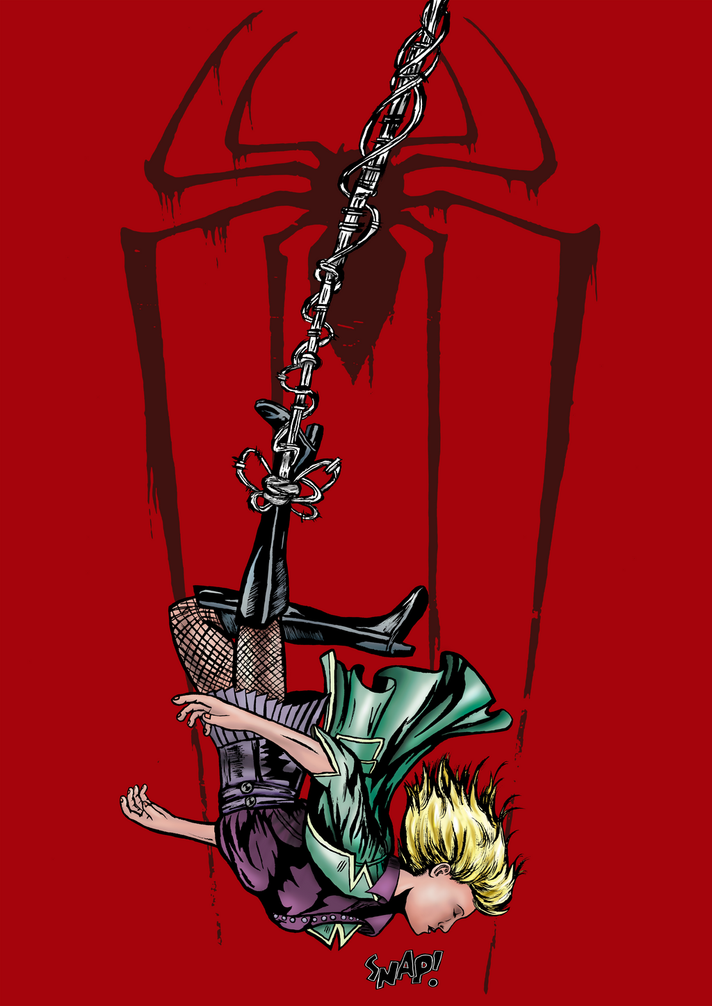 Death of Gwen Stacy Color by eMokid64
