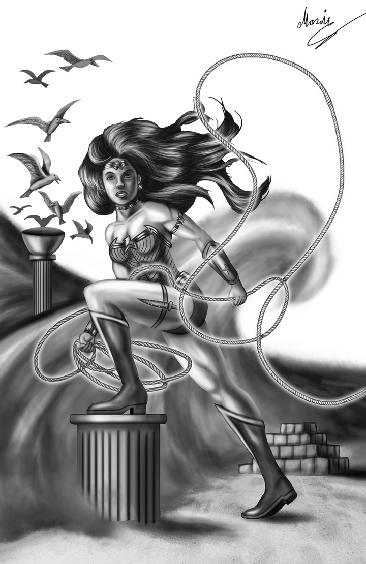 New 52 Wonder Woman 118 Cover Grey scale by eMokid64