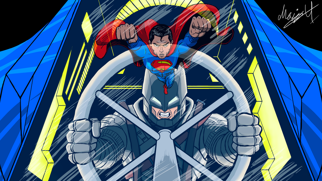Color Batman V Superman Talenthouse Contest entry by MarioUComics