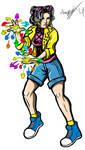 Lana Condor as Jubilee Clip Art by MarioUComics