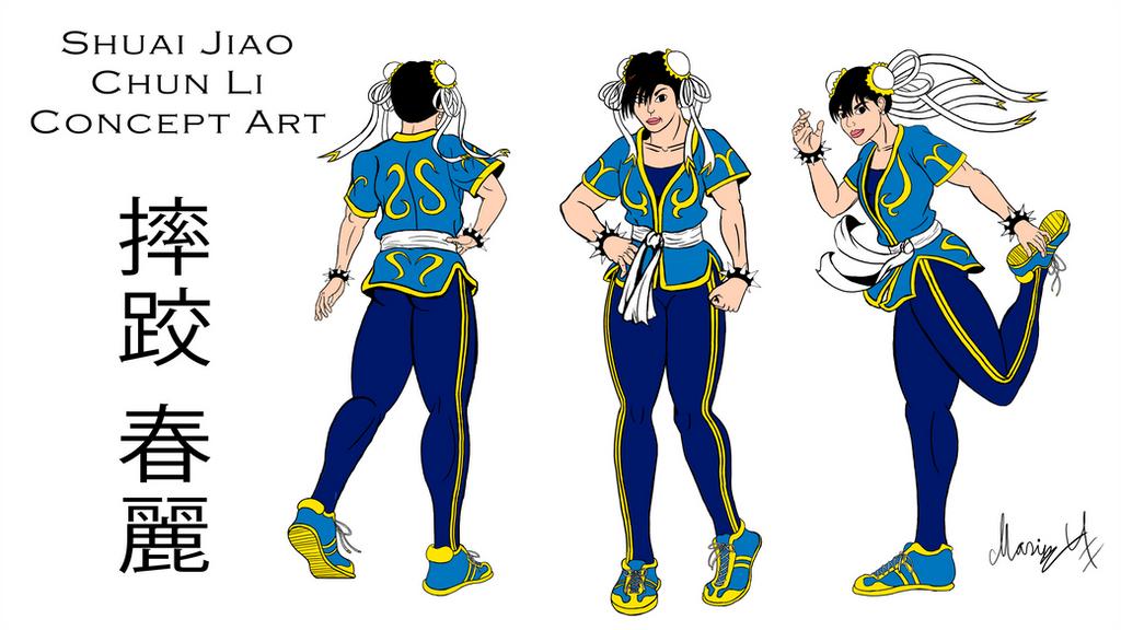 Shuai Jiao Chun Li Concept Art by MarioUComics