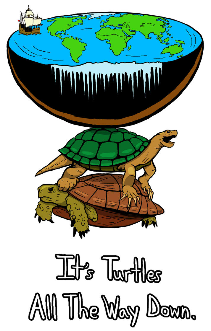 Turtles all the way down Colored by MarioUComics