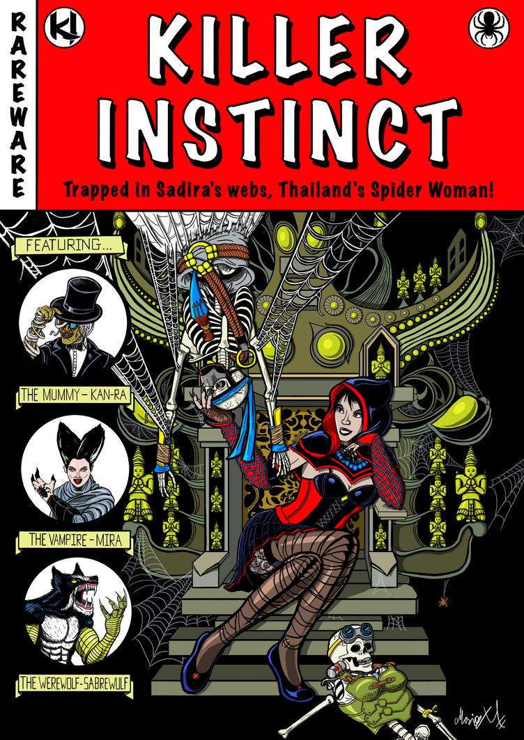 Killer Instinct Sadira horror comic cover colored by MarioUComics