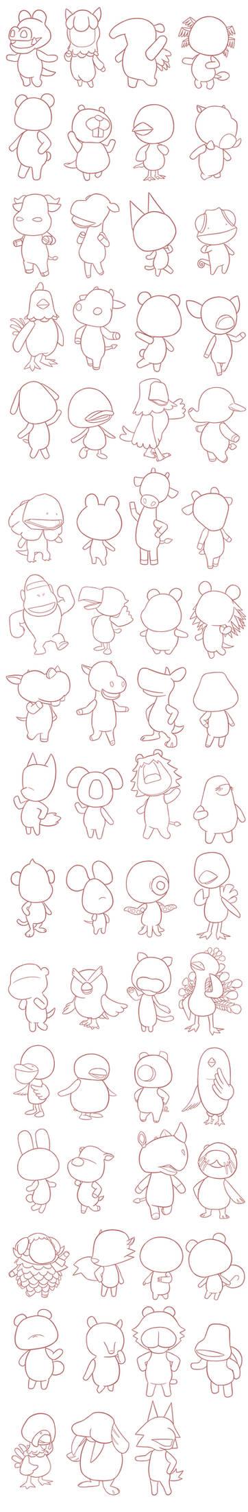 Animal Crossing Villagers Base [F2U]