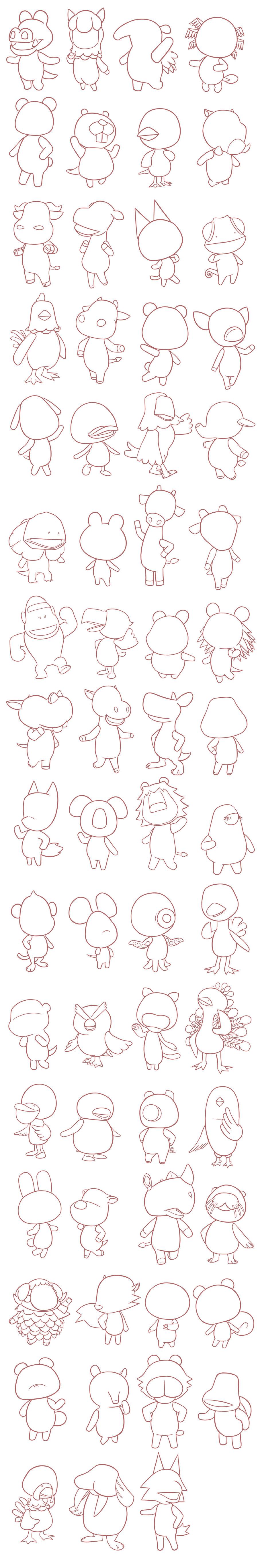 Animal Crossing Villagers Base F2u By Misskanabelle On Deviantart