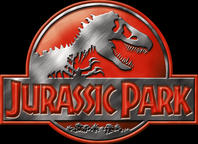 Jurassic Park Logo Red by OniPunisher