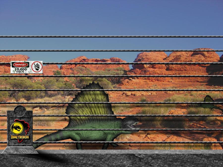 Jurassic Park Dimetrodon Pen