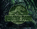 rocky jurassic park logo wallpaper green version