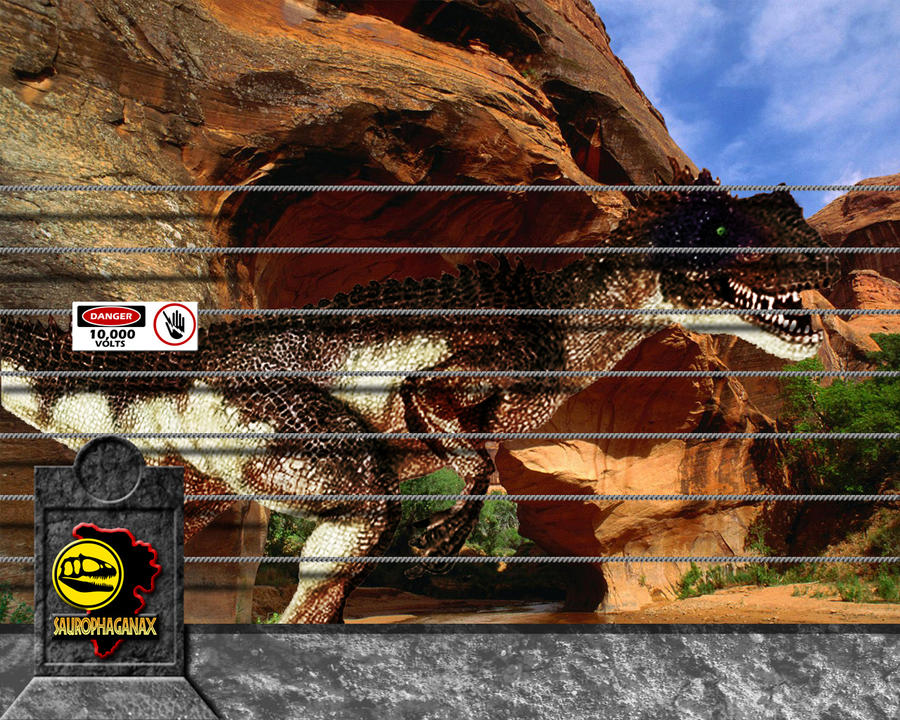 Jurassic Park Saurophaganax Pen by OniPunisher