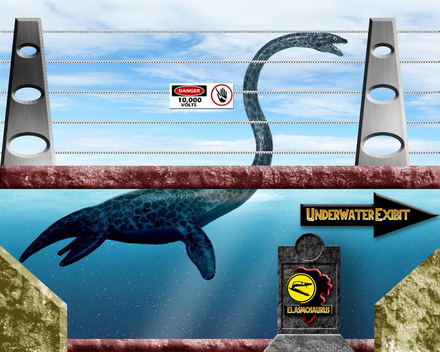 Jurassic Park Elasmosaurus Tank by OniPunisher