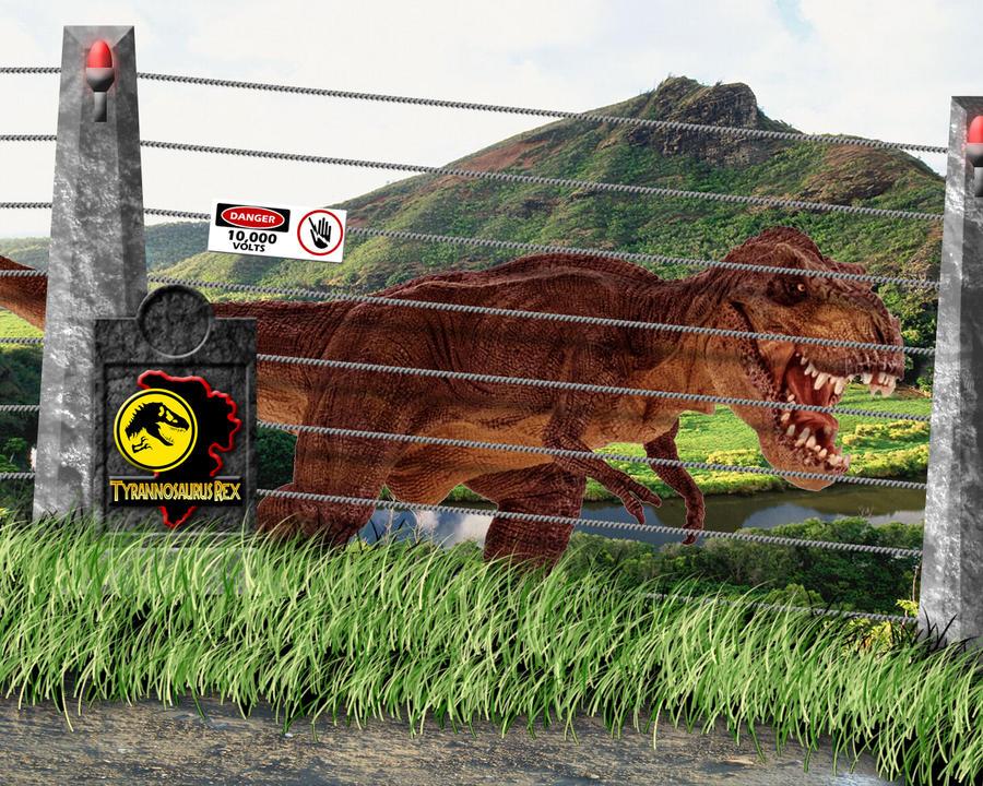 Jurassic Park Tyrannosaurus Rex Pen by OniPunisher