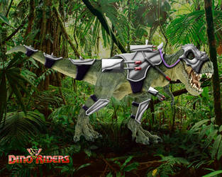 Dino Riders Rulon's T-rex by OniPunisher