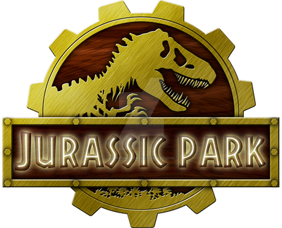 Logo Jurassic Park Steampunk by OniPunisher