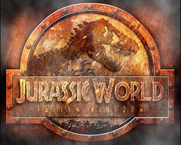 logo jurassic world fallen kingdom rusted by OniPunisher