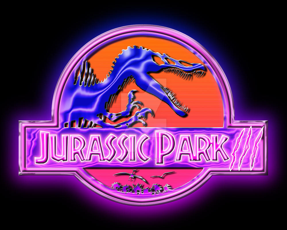 Jurassic Park III eighties style by OniPunisher