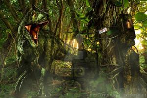 Carnotaurus pen Restricted area